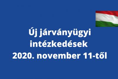 A 2020. novemberi járványügyi intézkedésekkel kapcsolatos legfontosabb tudnivalók